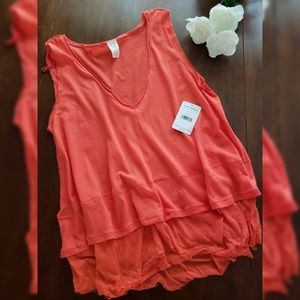 NWT Free People Tank Small Coral